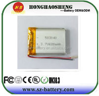 Bluetooth devices such as wearable devices with built-in lithium polymer battery 3.7V 680mah