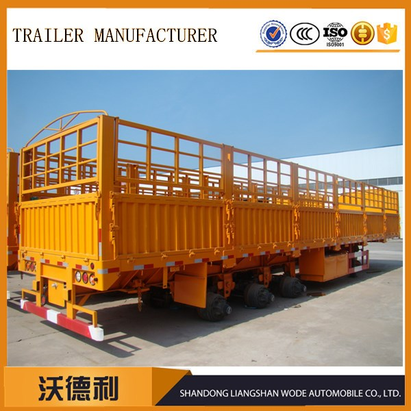Factory sales cargo fence semi trailer with BPW axle