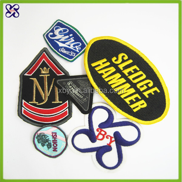 High quality custom 3d embroidery patch / epaulets for clothing