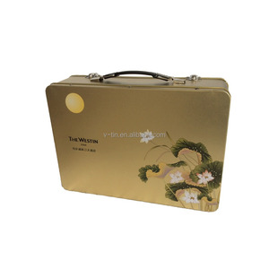 2018 new type tin lunch box with handle