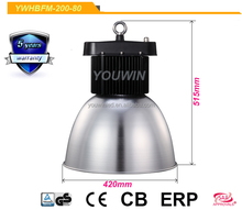 Meanwell transformer 200w high power high led bay light & led industrial light for workshop