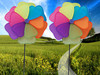 2015 windmill novelty garden windmills polyester Windmill for Spring Decoration