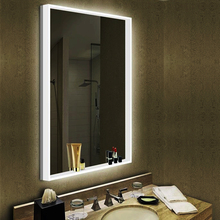 JNH130 Newly-Designed Decorative Rectangle Silver Bathroom Wall Mirror