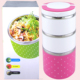 1230ML 3 Layer Thermos Stackable Stainless Steel Lunch Box