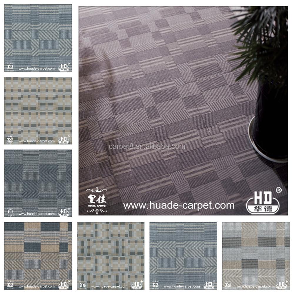 hot sale pu pvc thick printed commercial carpet tiles 50x50