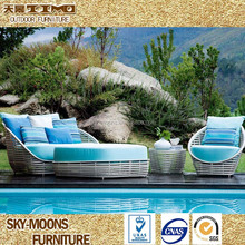 luxury patio furniture, rattan wicker terrace set, patio sofa for garden(SF124)