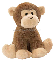 ICTI high quality brown monkey plush toys stuffed animals