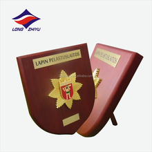 High quality 3D embossed soft enamel metal plate plaque for customs