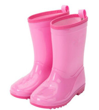 2017 new pink girls wellies eco-friendly material lovely children wellington boots
