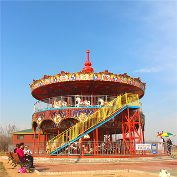 China modern musical carousel horses amusement park equipment