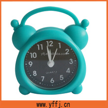 lovely unique silicone table clock with alarm