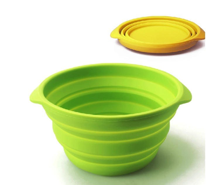 Pet Cat Food Water Feeding Portable Travel Bowls Collapsible Dog Bowl