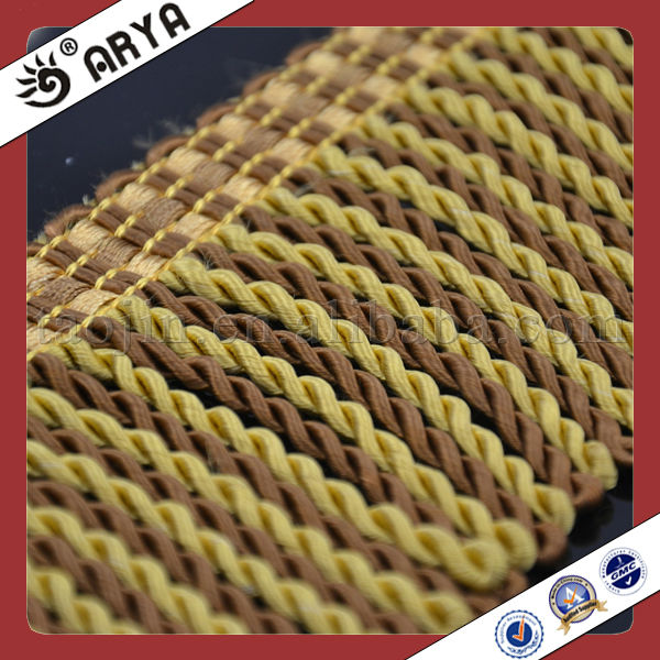 for sofa and pillow or curtain decoration wholesale simple gold coffee bullion fringe