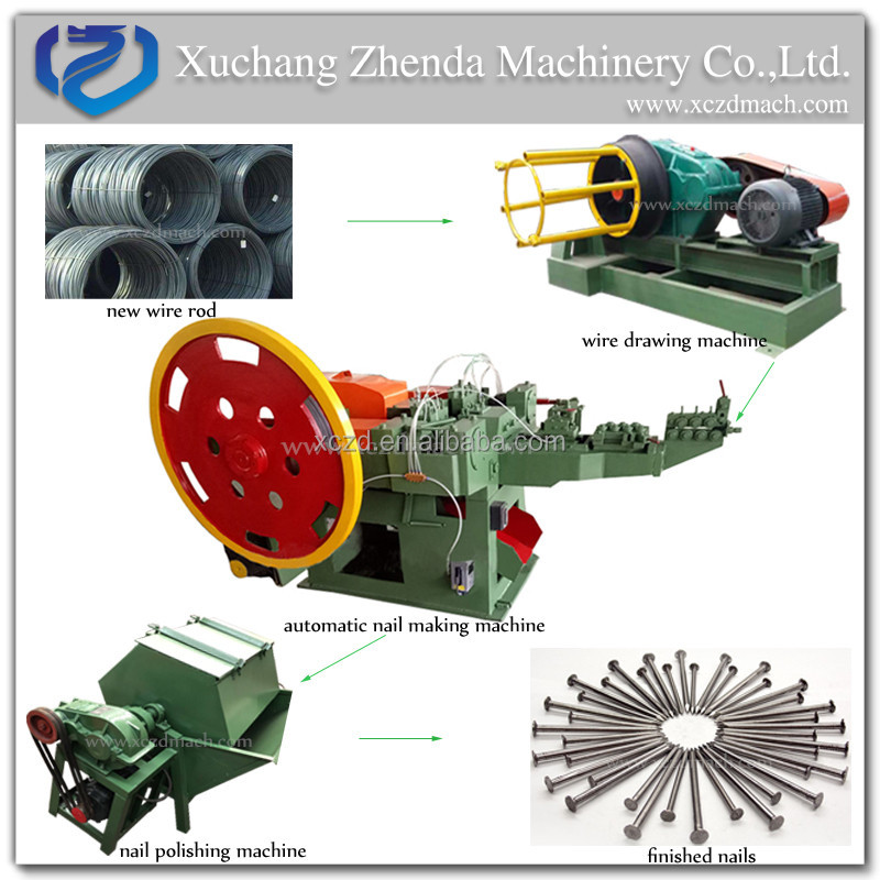 Used wire steel nail making machine price factory China common automatic iron nail making machine