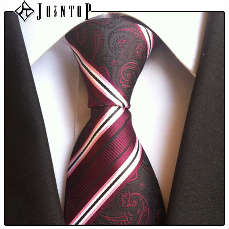 best price low moq <strong>10</strong> red white striped tie