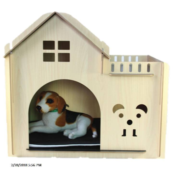 Wooden Dog Cat Pet House