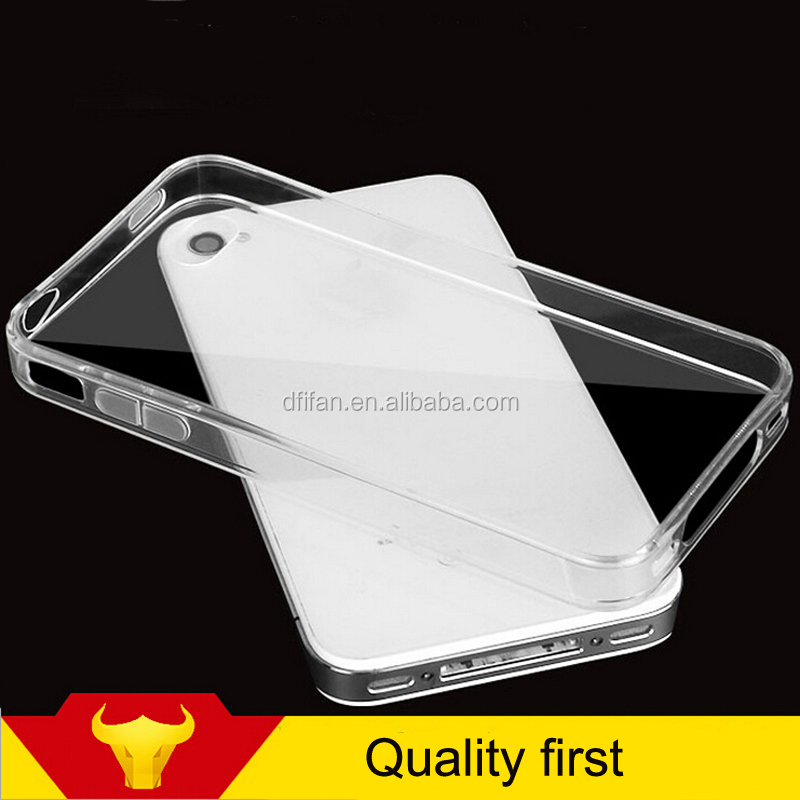 Phone accessory ultra thin transparent mobile covers case for iphone 4, back cover case for iphone 4s