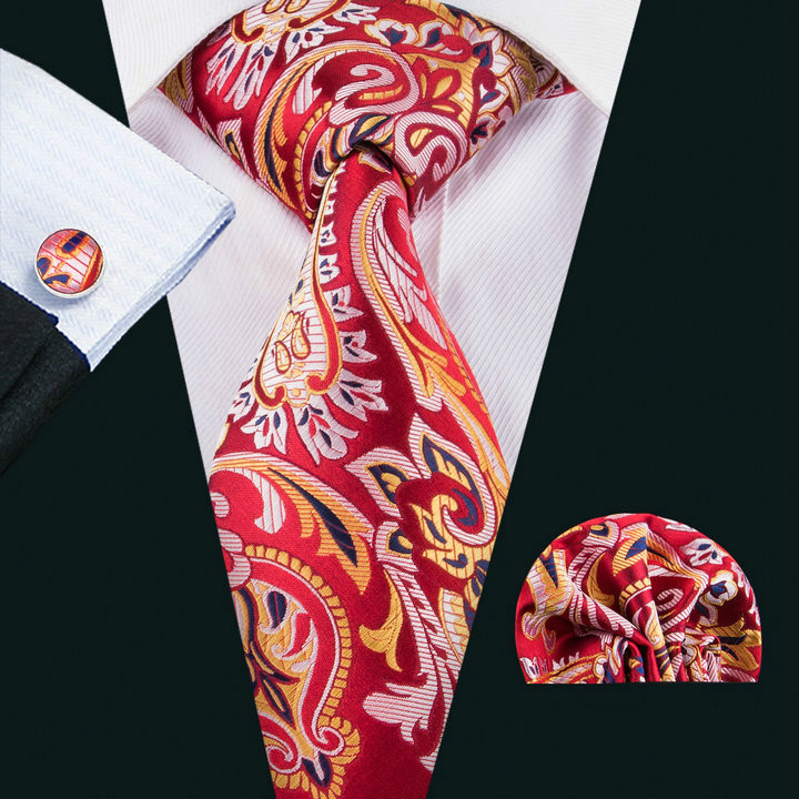 Wholesale Silk Mens <strong>Ties</strong> and pocket square cufflinks set