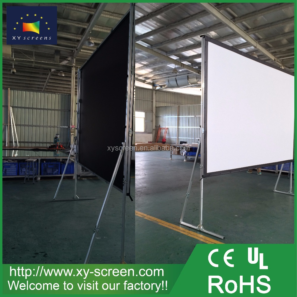 XYSCREEN pvc matt white projection screen fabric 250 inch fastfold projection screen