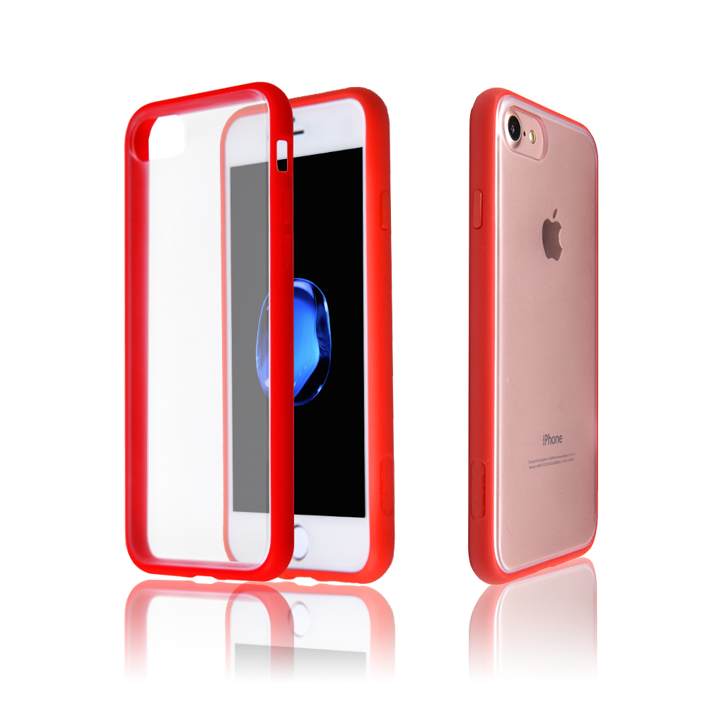 Translucent Hard Back Panel Shock Absorbing For iPhone 7 Plus Cover,Soft TPU Bumper Case For iPhone 7 Plus
