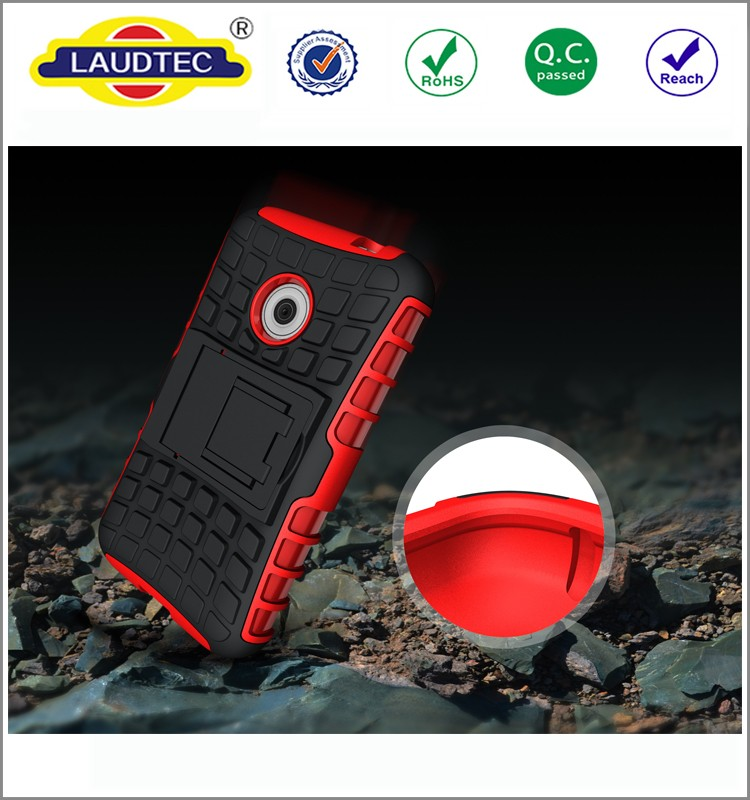 Rugged armor hybrid rubber protective case cover for vodafone smart first 7