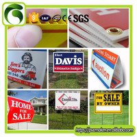 Green 2016 eco polypropylene 3mm 4mm 5mm Coroplast Signs / Yard Signs / Lawn Signs