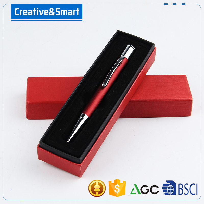 Promotional Business Gift Set Custom Logo Printed High Quality Retractable-Action 1.0mm Metal Roller Ball Pen/ Ballpoint Pen