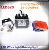 "2014 NEW Square 3"" 20w led waterproof IP68 PMMA Lens Cree led work light 20w"