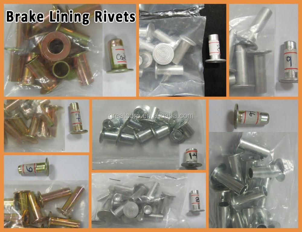 Brake Pad Rivets : China manufacture full range sizes brake lining rivet
