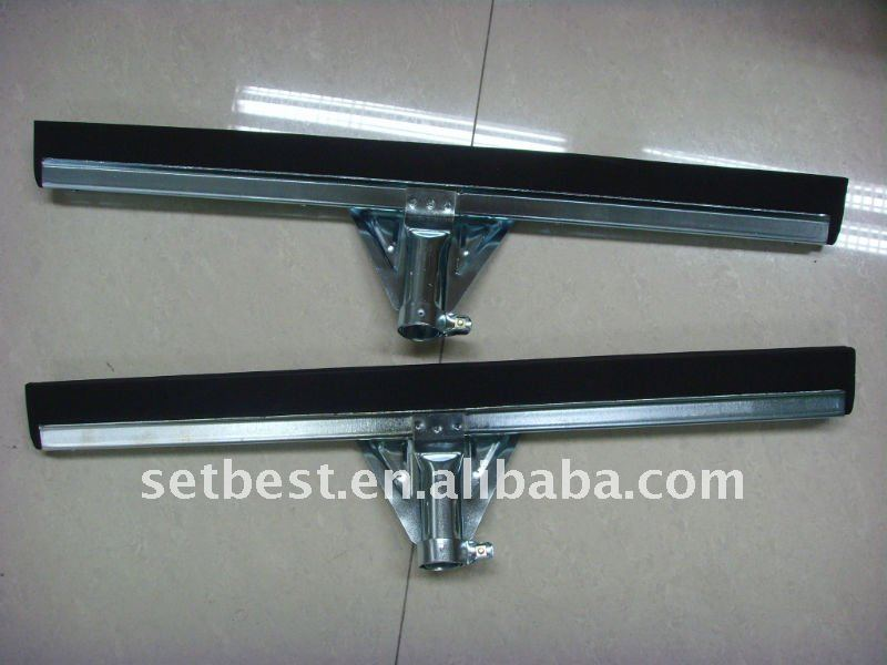 Stainless Steel Floor squeegee with double EVA Sponge blades