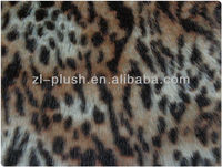 animal painted leapord faux fur fabric