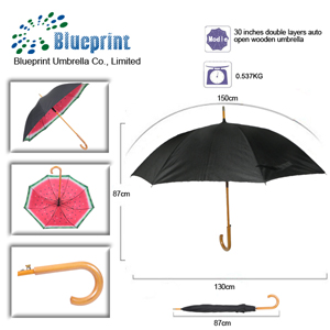 two layers black color fruit pattern straight watermelon umbrella