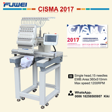 Fuwei 1501 Single head computerized embroidery machine like tajima hat embroidery machine sale