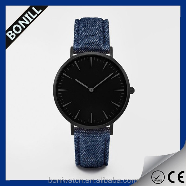 Bonill factory newest design stainless steel case back watches men custom