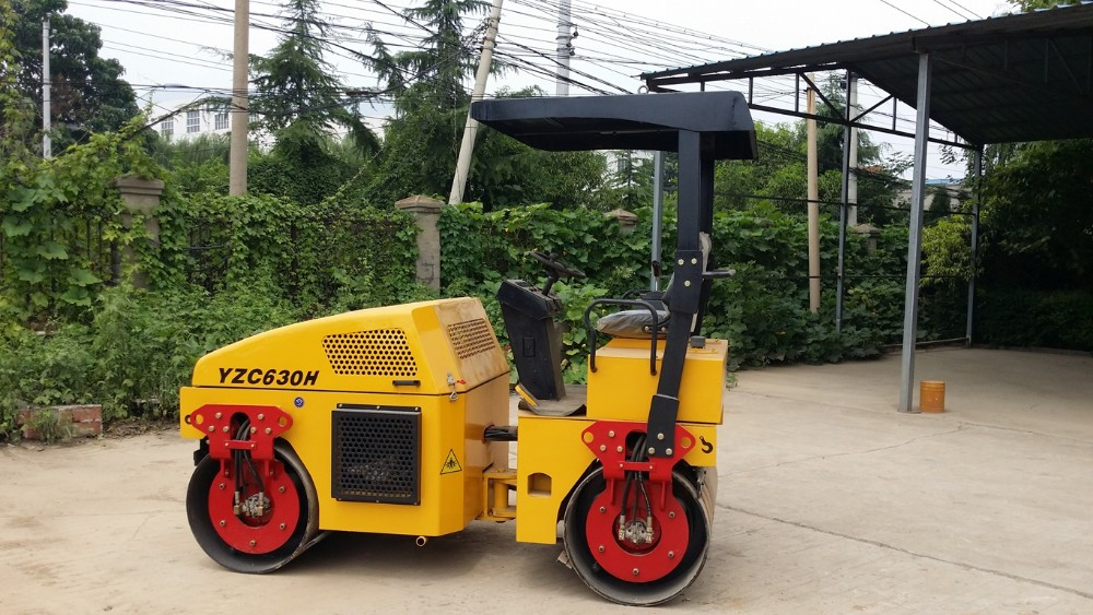 YZC630H double drum vibration small hydraulic roller
