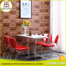 Indoor Restaurant furniture anti- ultraviolet Leisure modern metal cafe table and chairs for sale