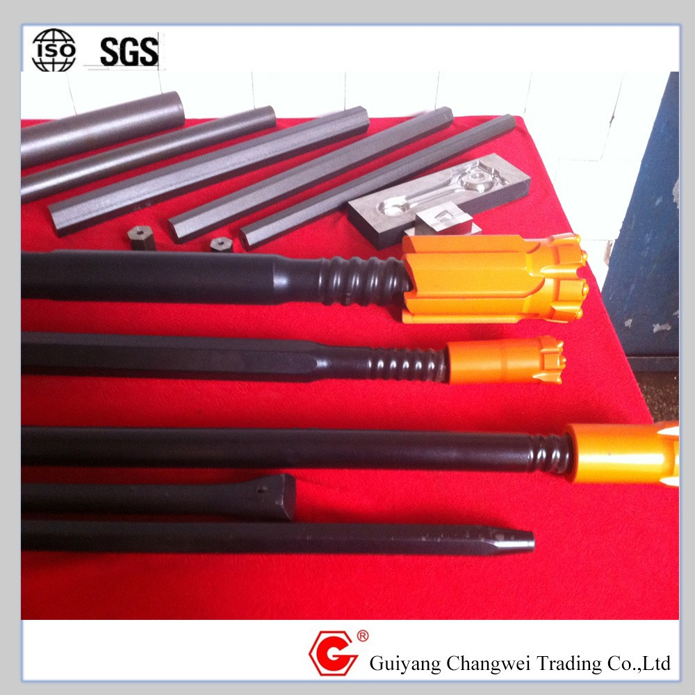 High quality fully carburized rock drill tools FM t45 drill rod with sizes