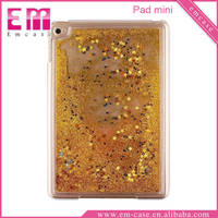 Golden Stars Shiny Sand Plastic Case For iPad Mini Tab PC Hard Shell Cases