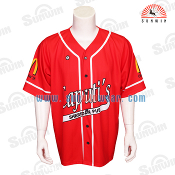 Top Quality Sublimated Print Baseball Jersey Blank