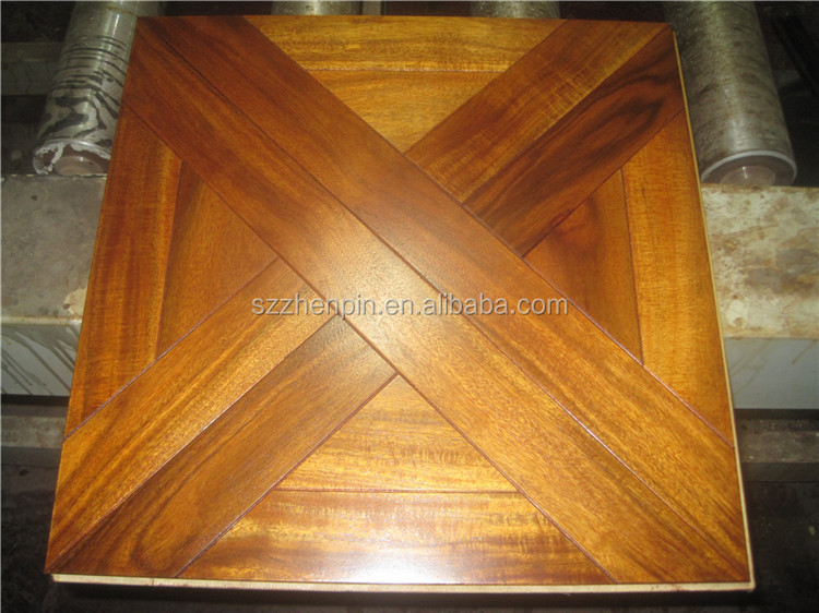 Hot design Acacia art parquet flooring/patterned flooring