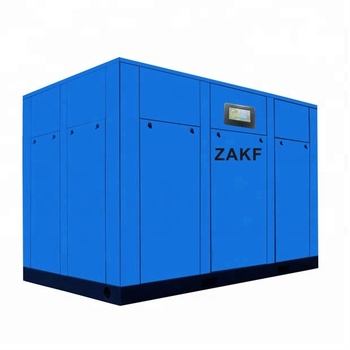 Water cooling silent 220KW 300HP ZAKF screw air compressor