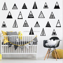 Nordic style Mountains Custom Vinyl Removable Wall Stickers For Kids Room D989