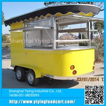 Snack machine food cart/trailer/van/kiosk mobile bbq food trucks for sale