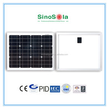 High quality mini solar panel 30W with TUV/IEC/CEC/CE/PID/ISO certificates