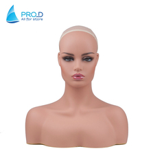 Hot Sale Wig Store Hat Head Mannequin For Wig Store