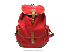 canvas red backpack