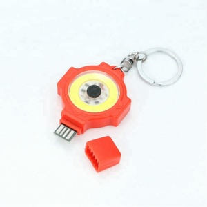 rechargeable 3W COB LED Keychain light