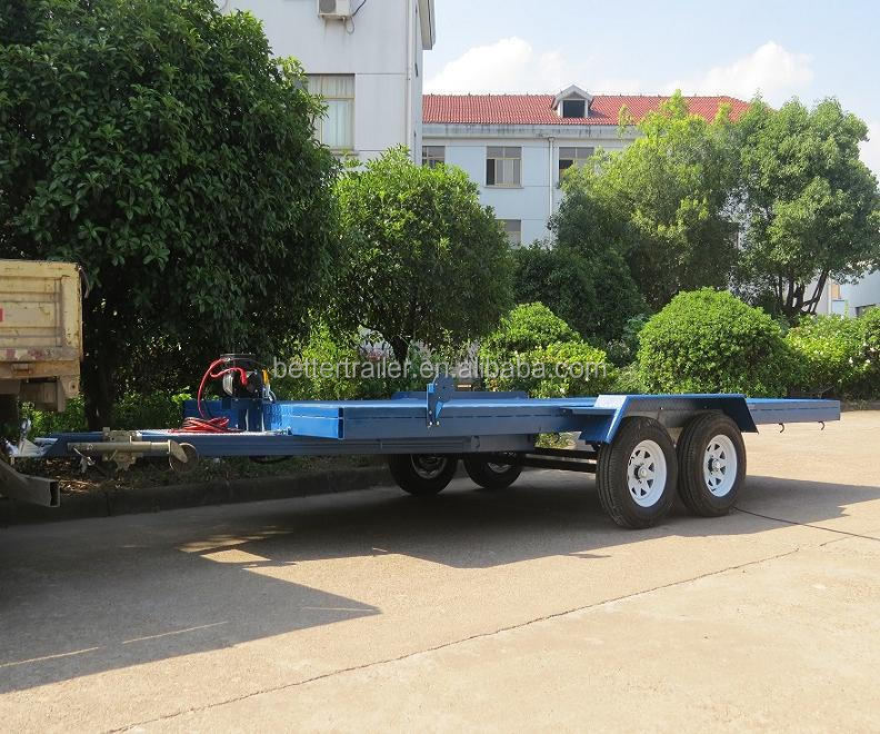 lowbed hydraulic tipping tandem galvanized car transporting trailer