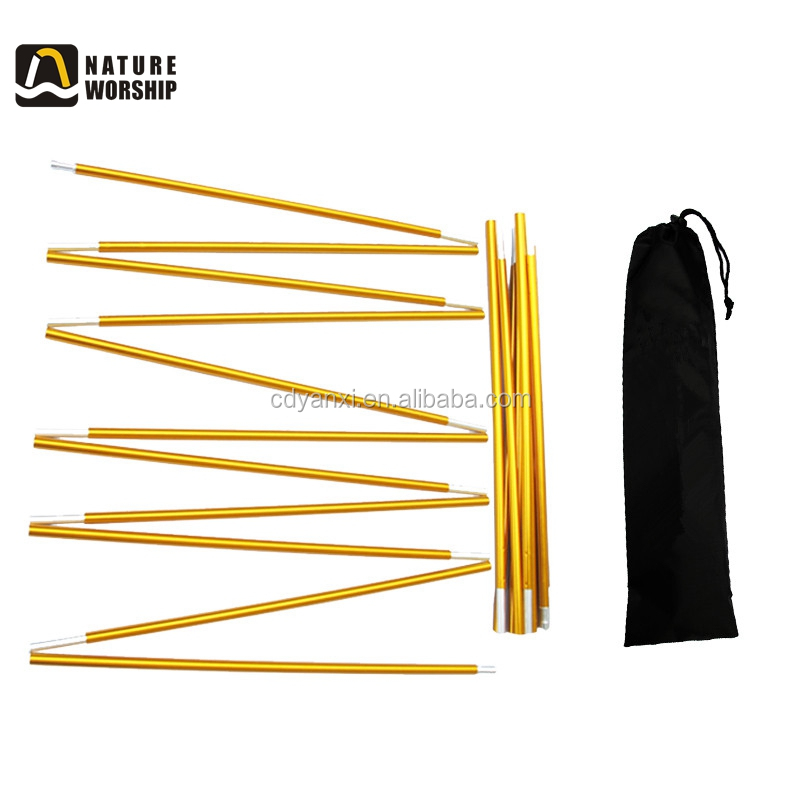 Hot Sale Outdoor Camping Flexible Folding Replacement Aluminum Alloy Tent Poles