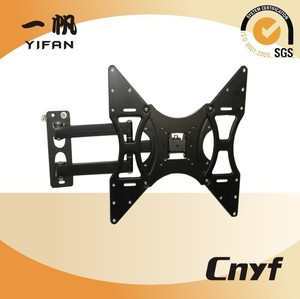 "Hot wholesale 180 degree flexible swinging single arm full motion tv bracket lcd plasma tv wall mount for up to 55"" TVs"